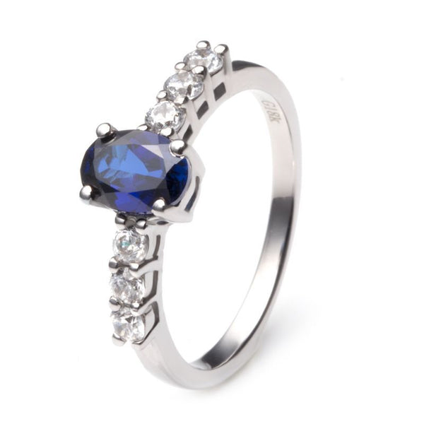 Solitaries Four Claws Bule Sapphire Engagement Ring