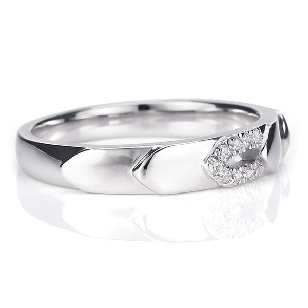 Arrow Sterling Silver Wedding Band for her