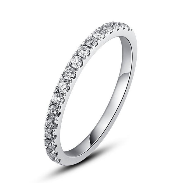 Cluster Setting 925 Sterling Silver Lady's Wedding Band For Her