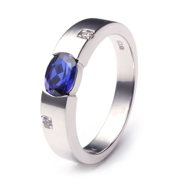Sapphire 925 Sterling Silver Promise For Him