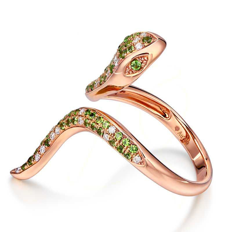 Graceful CoBra Peridot Ring