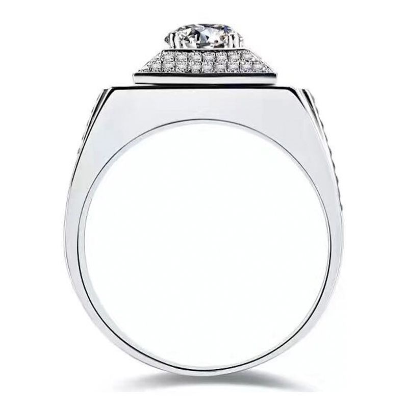 Domineering Wide Shank Wedding Band For Him