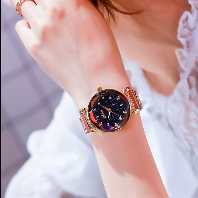 New Fashion Galaxy Watch with Sparkling Stones