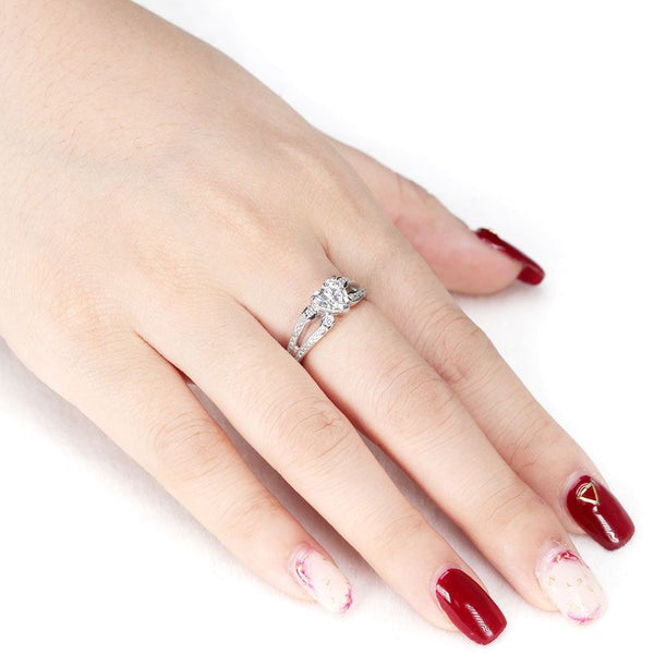 Heart Split Shank Ring