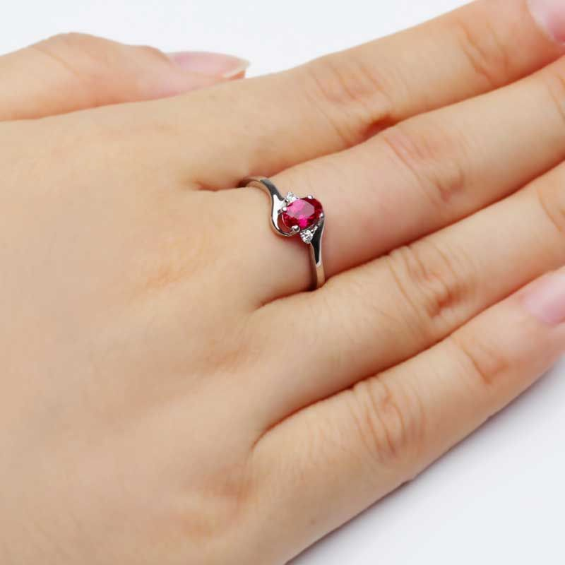 Solitaries Ruby Engagement Ring