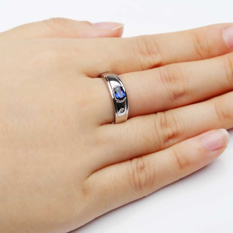 Sapphire Wedding Band For Him