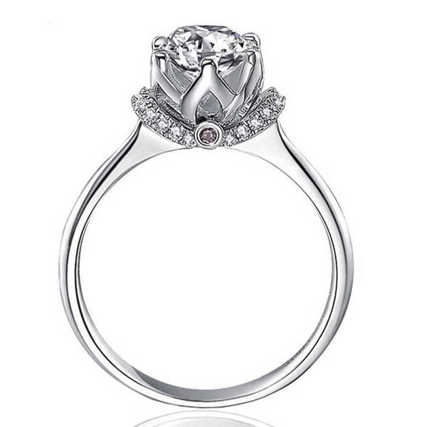 Romantic Crown Setting Ring