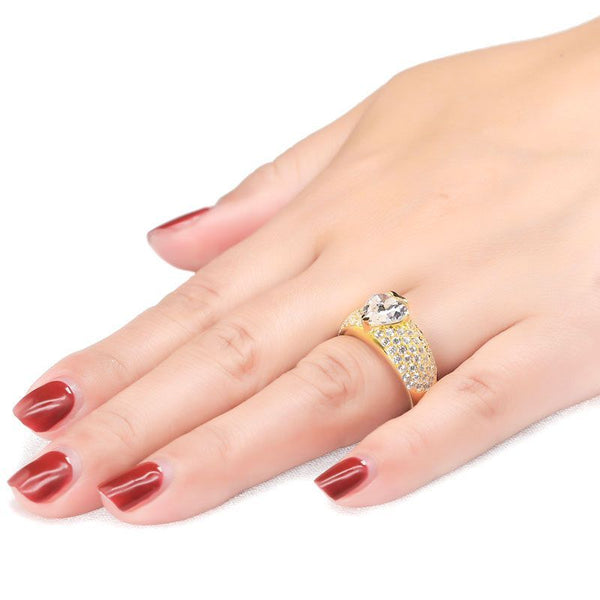 Heart Pave Setting Ring Band