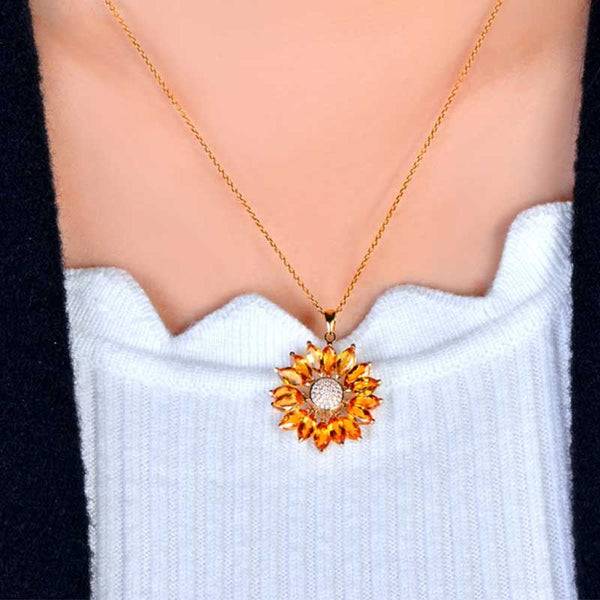 Sunflowers Shine Women's Necklace