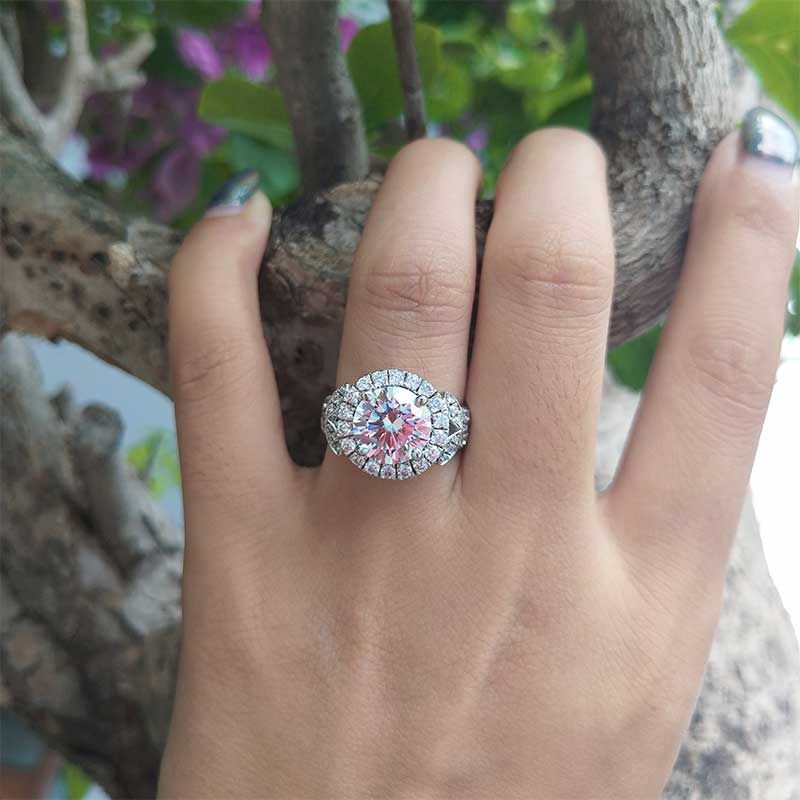 Brilliant Halo Blossom Ring