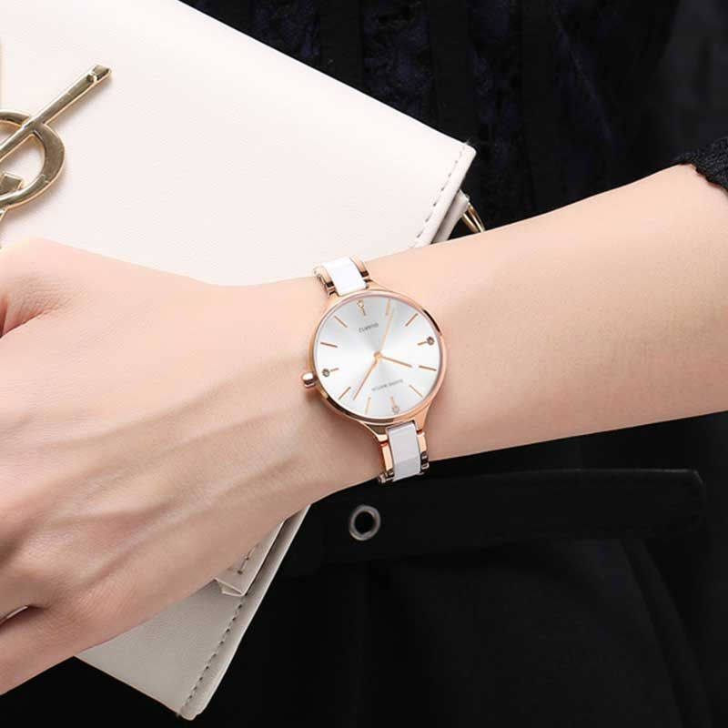 Chic Ceramic Material and Magnetic Buckle Design Watch