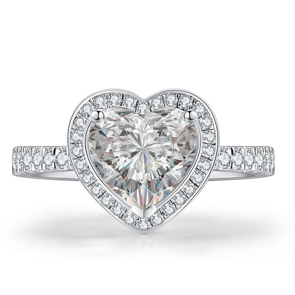 Halo Heart Cut Ring