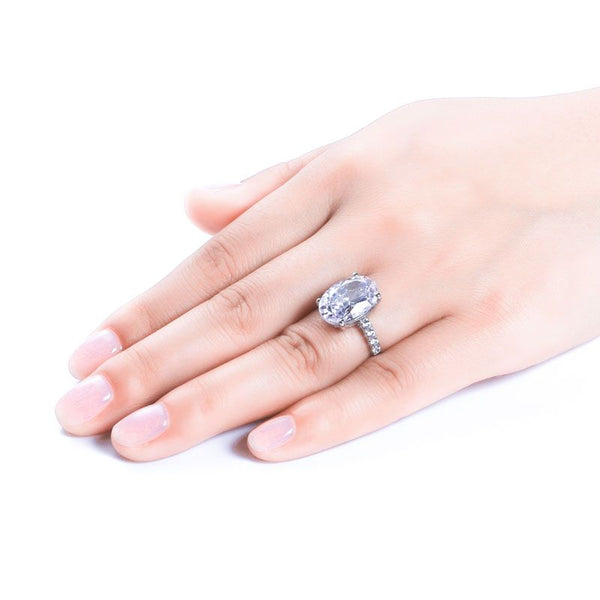Classic Oval Cut Pavé Setting Ring