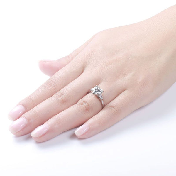 Heart Three Stone Ring