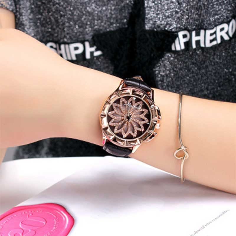 Luck Has Turned Carving Steel Bracelet Fashion Watches