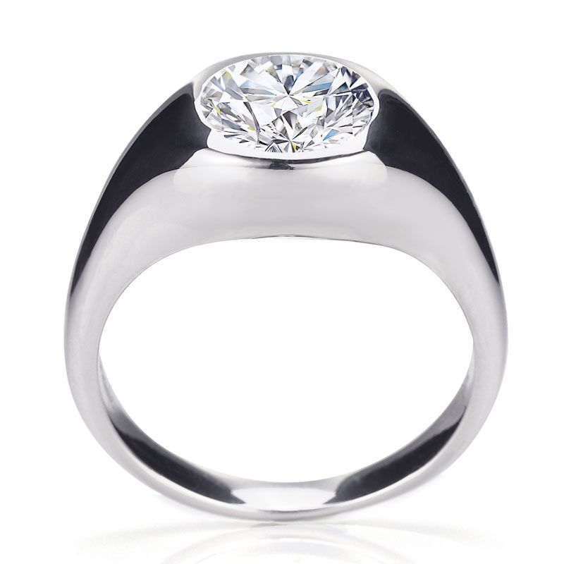 Bezel Setting Solitaire Engagement Ring