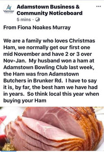Ham - 1/2 Leg Christmas Ham 4kg min weight