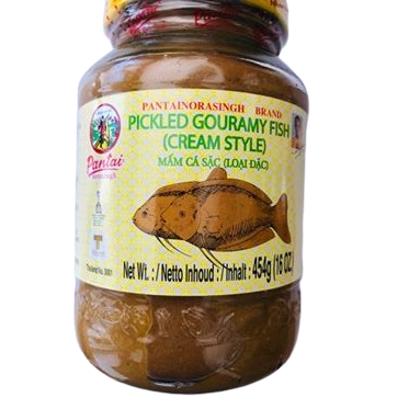 CREAMY PICKLED GOURAMAY MUD FISH FROM THAILAND SOLD IN THE UK. GET IT ONLINE OR IN OUR THAI GROCERY STORE LOCATED IN CARDIFF