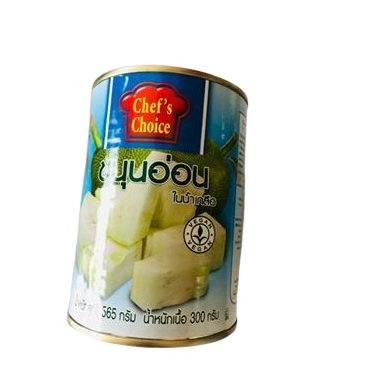 THAI GREEN JACKFRUIT IN BRINE, TINNED AND IMPORTED INTO THE UK FROM THAILAND WHERE IT IS SOLD BY US AT SIAM THAI SUPERMARKET CARDIFF