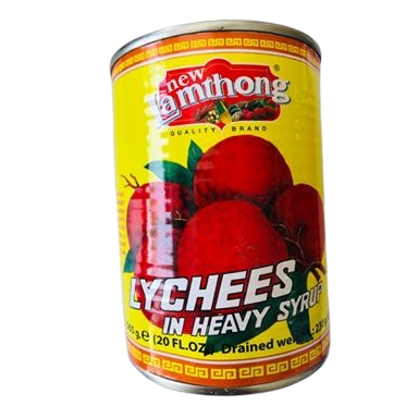 Lychees from Thailand, tinned and with added syrup are available to purchase from us in the UK.  These are made by the world famous New Lamthong brand in Thailand