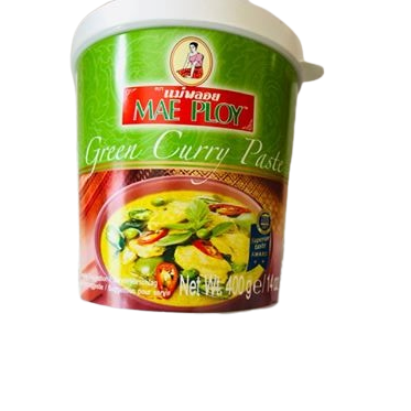 green thai curry paste for sale in the uk. mae ploy brand imported from Thailand and sold in cardiff and online by Siam Thai Market