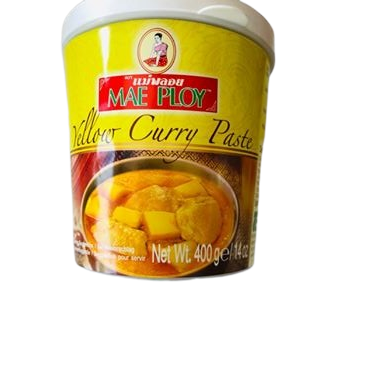 thai yellow curry paste, authentic thai brand mae ploy is here to buy in the uk