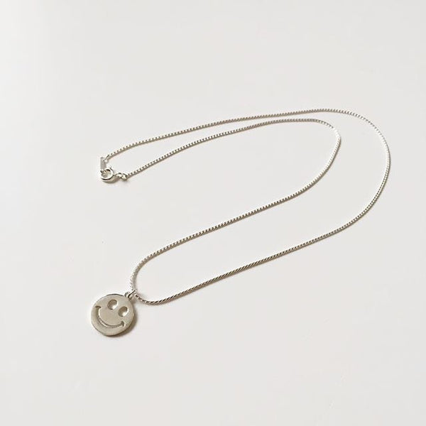 DDC 925 Sterling Silver Smiley Necklace