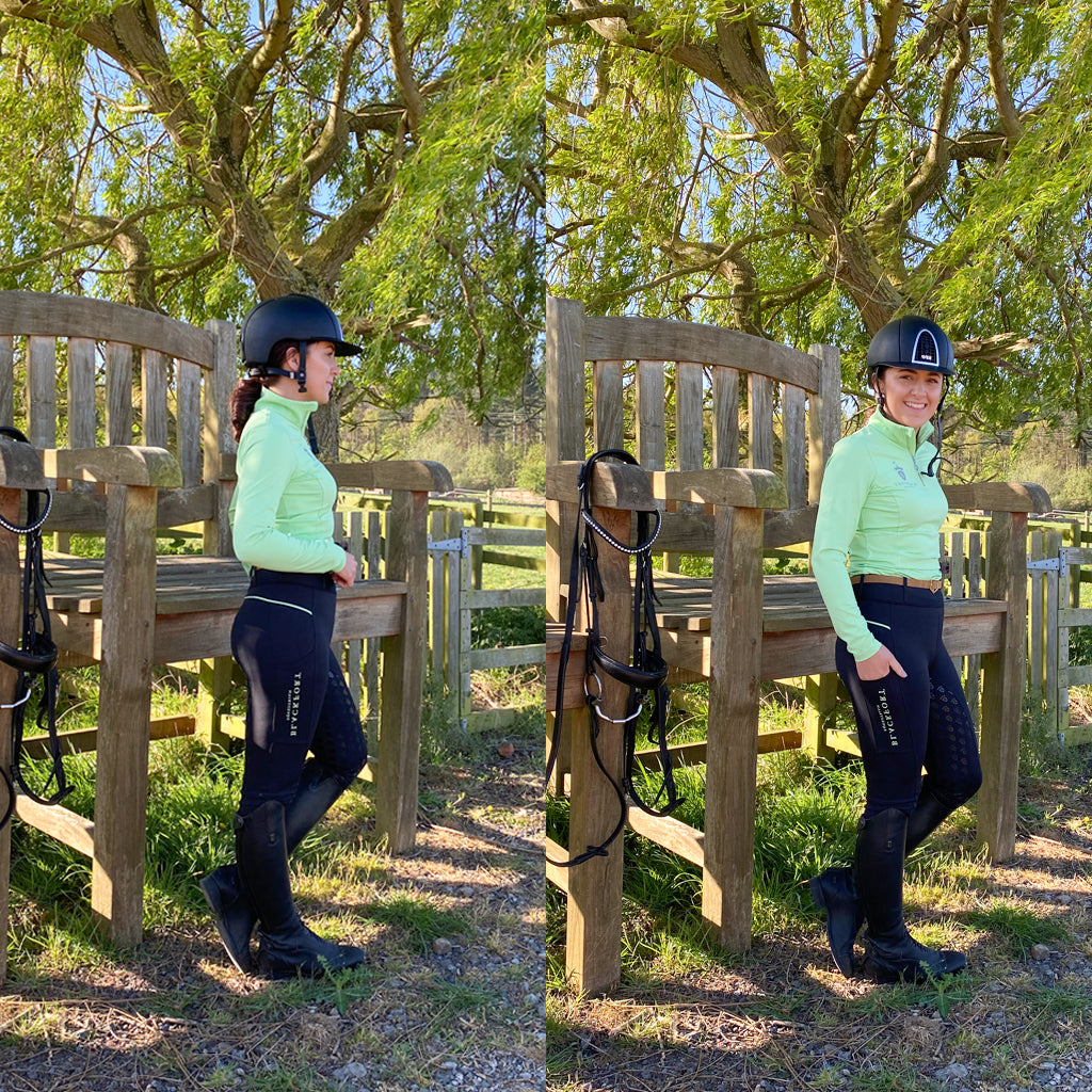 Blackfort Equestrian Green Riding Tight Collection