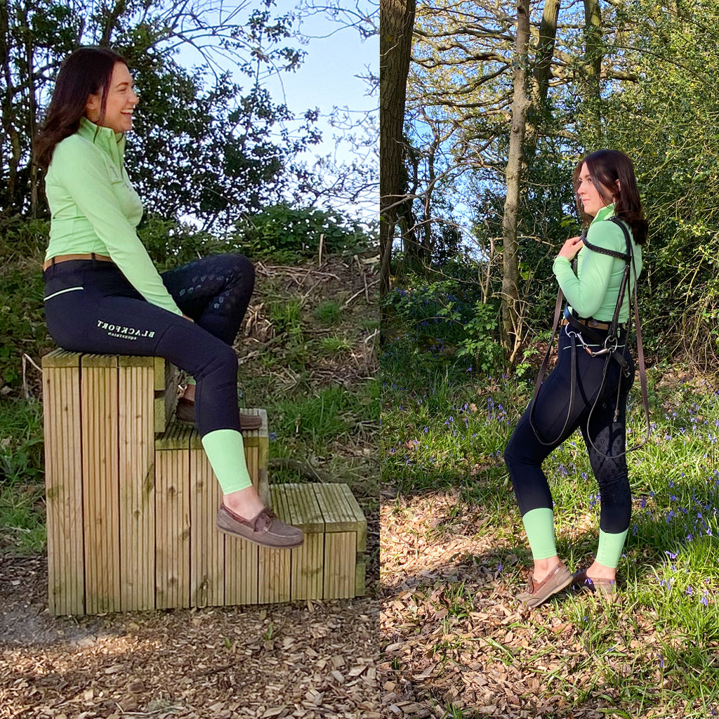 Blackfort Equestrian Green Riding Tight Clothing Collection