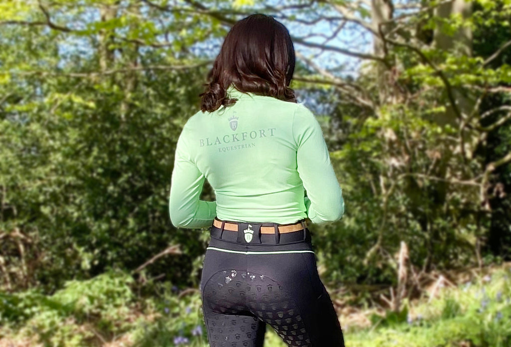 Blackfort Equestrian Riding Tights Base Layer Green