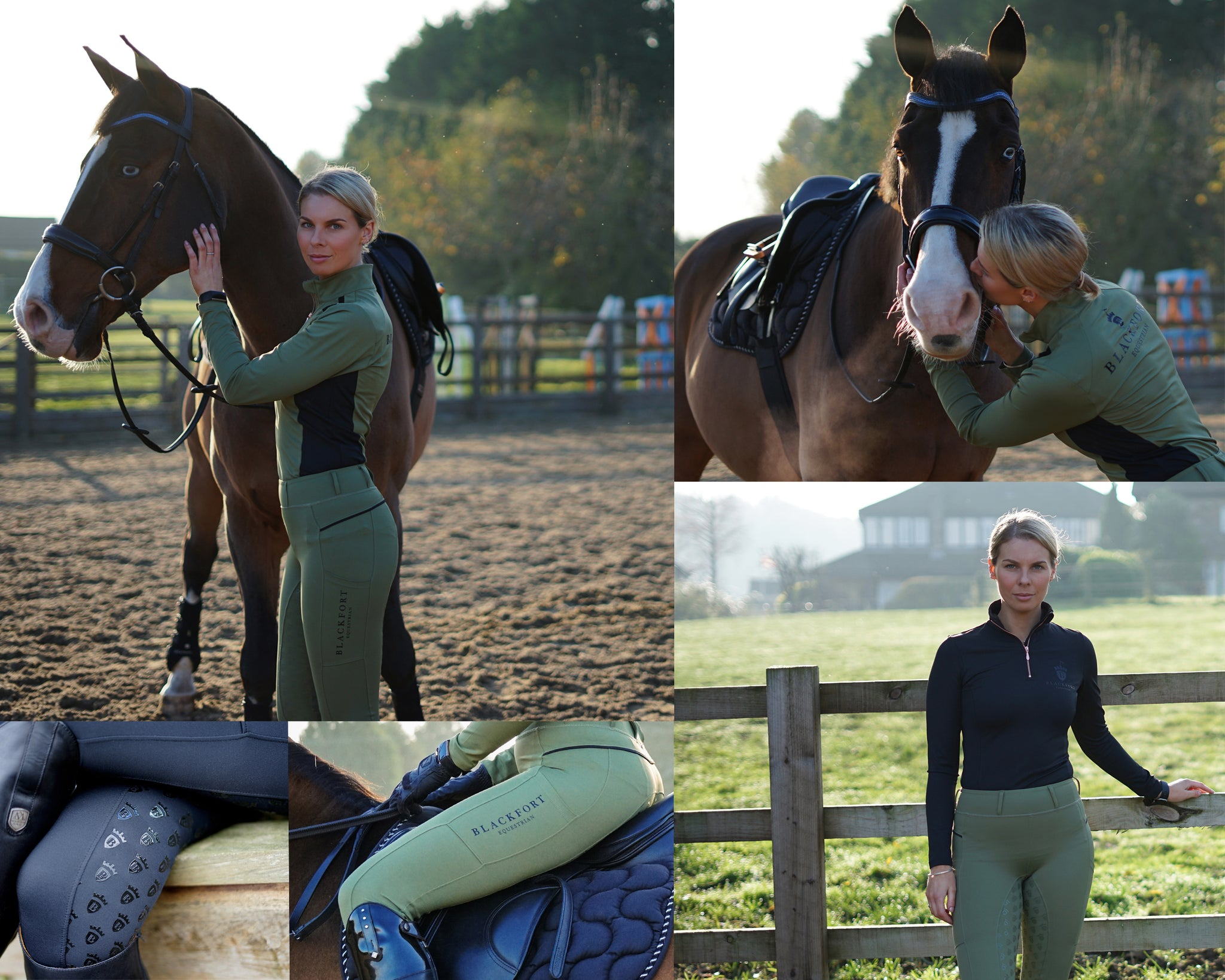 Blackfort Equestrian Look Book Riding Tights and Leggings Collection