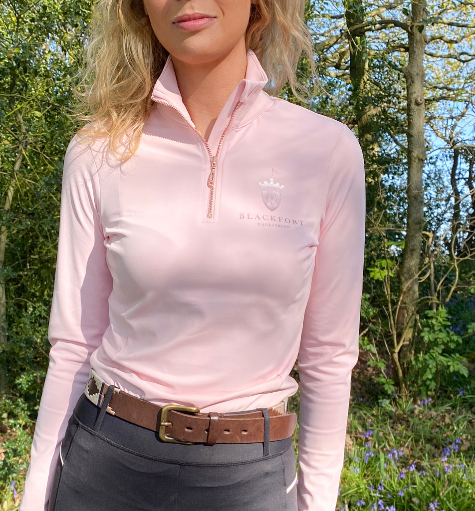 Blackfort Equestrian Riding Tights and Baselayer Pink Look Book