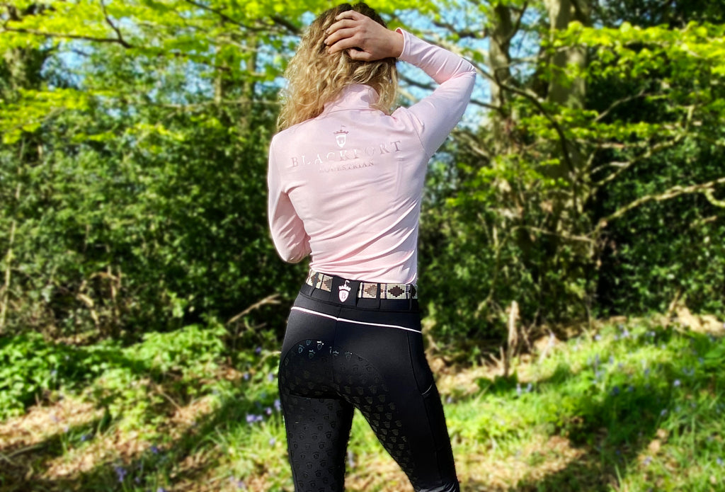 Blackfort Equestrian Riding Tights Base Layers Pink