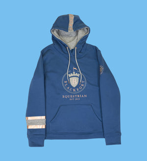 Petrol Blue & Rose Gold Feature Hoodie