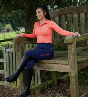 Blackfort Equestrian Base Layers Coral Long Sleeve