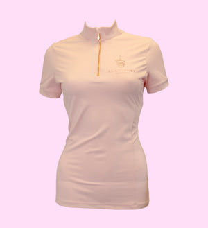 Light Pink Short Sleeve Base Layer with Air Mesh
