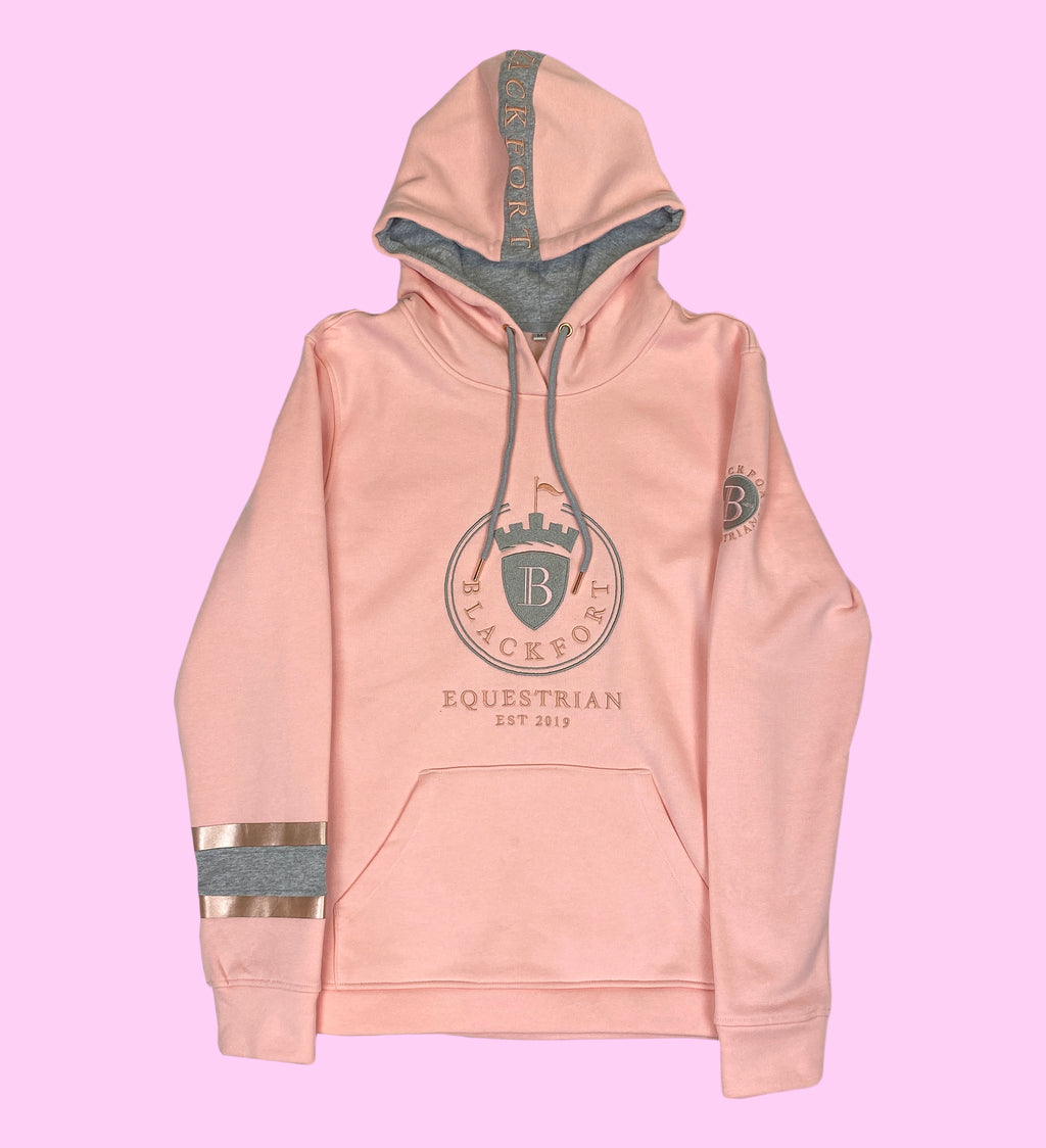 Light Pink & Rose Gold Feature Hoodie