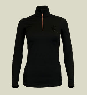Blackfort Equestrian Long Sleeve Black Base Layer Rose Gold