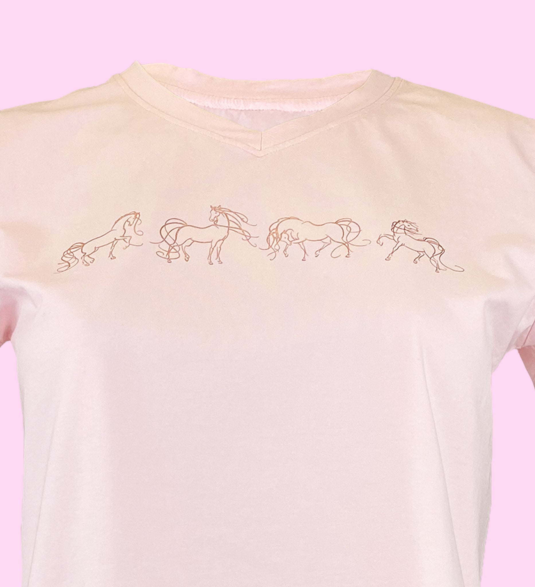 Blackfort Equestrian Pink and Rose Gold Tee Shirt T Shirt