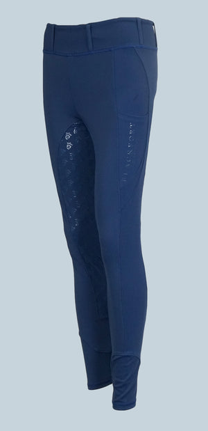 Blackfort Equestrian Riding Leggings with full silicone seat in navy with phone pocket
