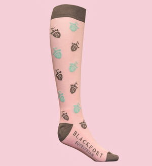 Pink Blackfort Equestrian Cushion Socks
