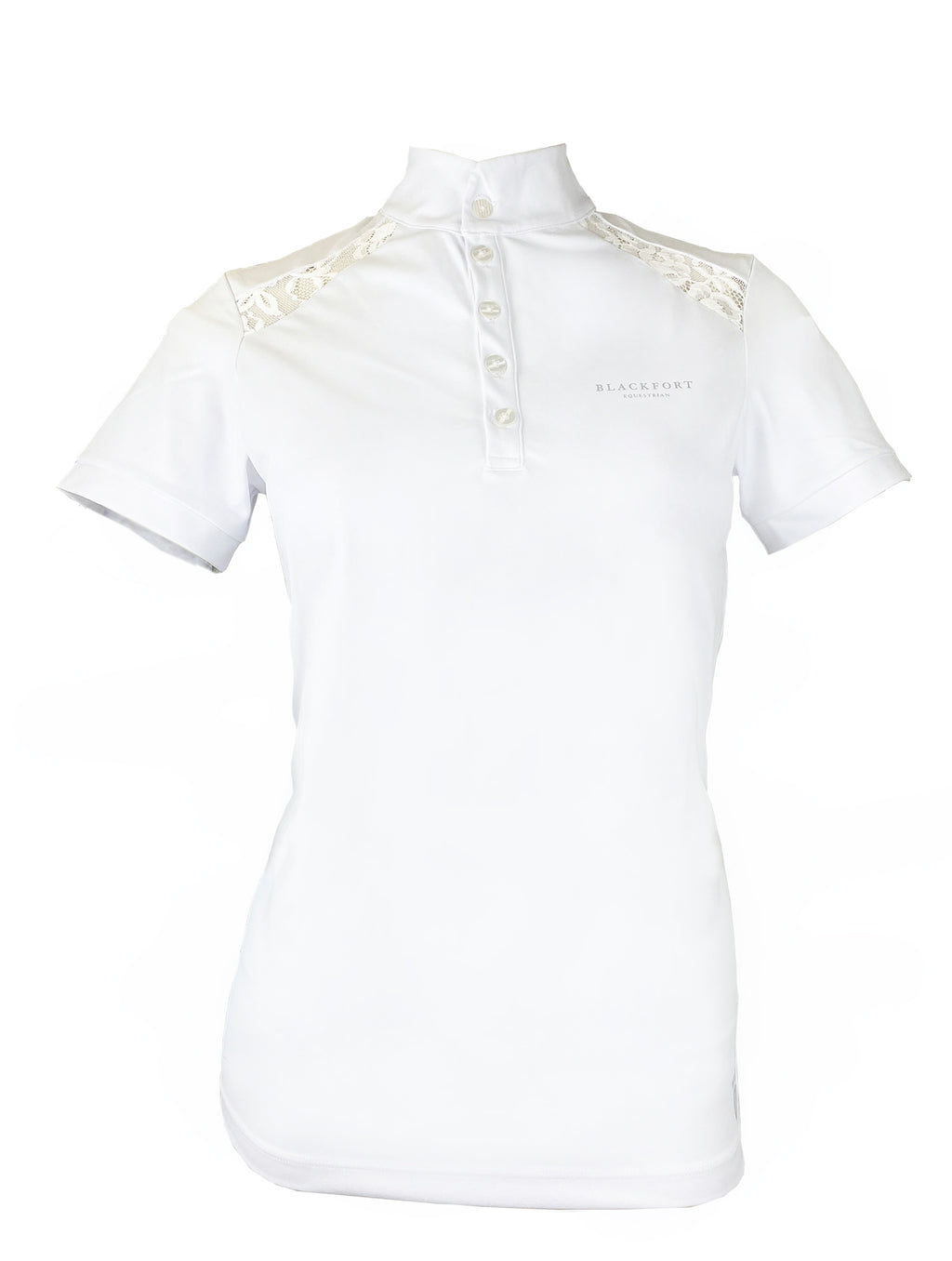 White Lace Collared Show Shirt