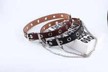 Load image into Gallery viewer, Double and Single Eyelet Grommet Leather Belt