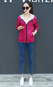 Loose Women's Bomber Jacket Two Side