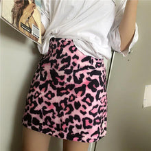 Load image into Gallery viewer, High Waist Pink Leopard Skirt