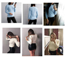 Load image into Gallery viewer, Three Quarter Sleeve Cashmere Knitted Sweater