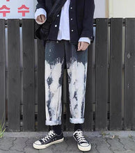 Load image into Gallery viewer, Hip Hop Tie Dye Casual Jeans