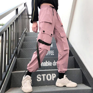 Casual Cargo Letter Embroidered Jogger Pants