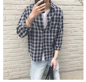 Long Sleeve Plaid Flannel Shirt