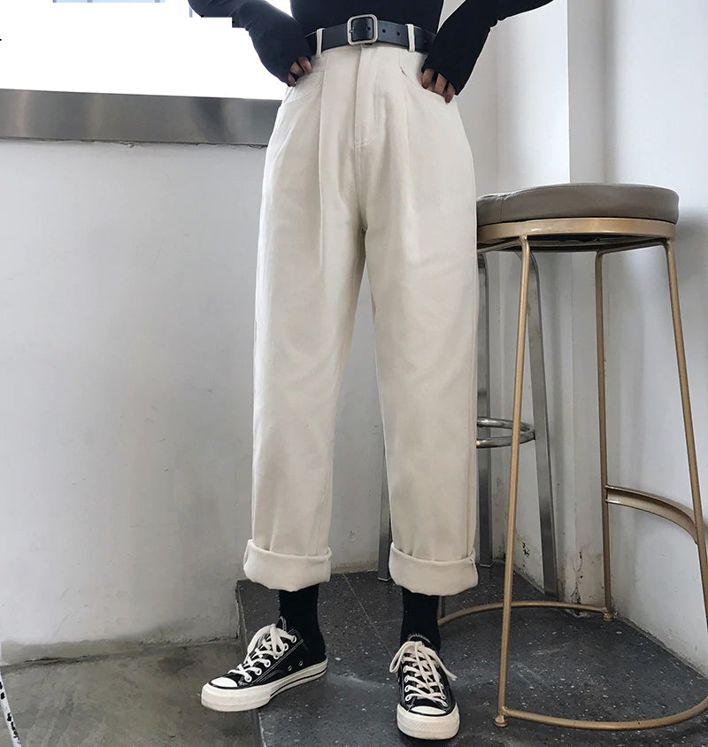 High Waist Casual Wide Leg Loose Pants